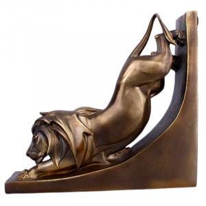 Agile Lion Bronze Statue