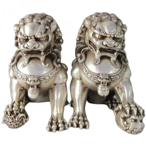 Ancient Chinese Lion Statue