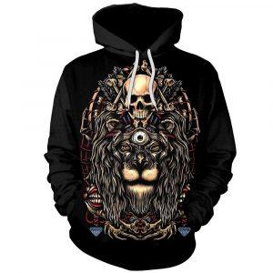 Biker Lion Hoodie