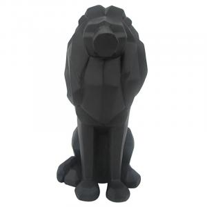Black Origami Lion Statue