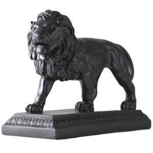 Black Resin Lion Statue
