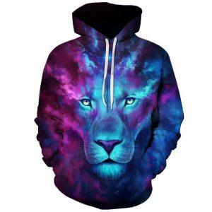 Colorful Mood Lion Hoodie