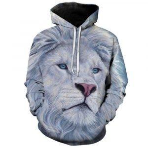 Cool White Lion Hoodie