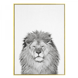 Black And White King Lion Wall Art