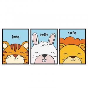 Cartoon Lion Friends Wall Art
