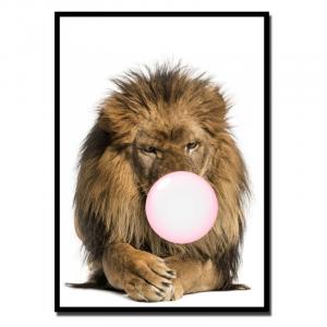 Chewing Gum Lion Wall Art