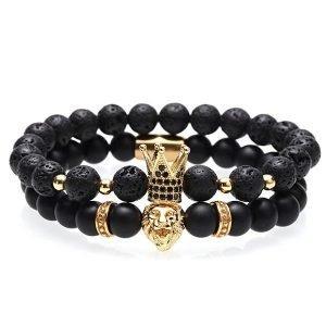 Crown Beads Bracelet Men