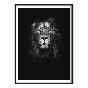 Graphic Lion Portrait Wall Art
