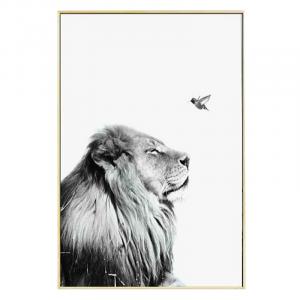 Lion And Bird Wall Art