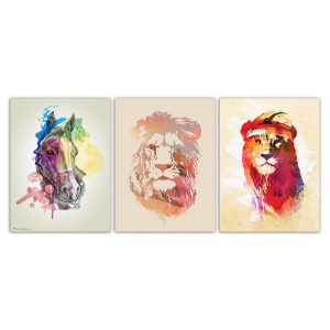 Lion And Horse Wall Art Set