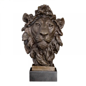 Bronze Lion Head Statue