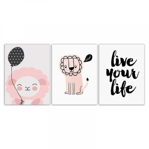 Live Your Life Lion Wall Art