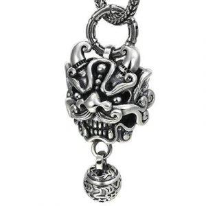 mens silver lion pendant
