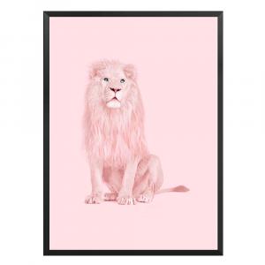 Pink Lion Wall Art
