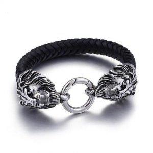 Bike Leather Bracelet
