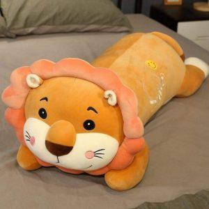 Lion Plush Lying Smile Brown
