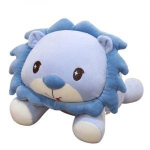 Lying Lion Plush Blue