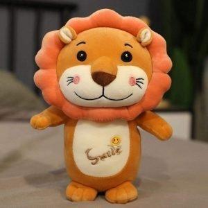 Smile Lion Plush Toy Brown