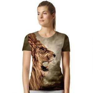 Womens Lion Head T-Shirt