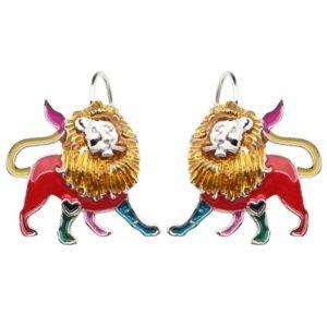 pandora lion and heart earrings