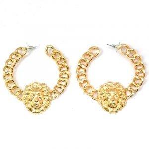 Rihanna lion earrings