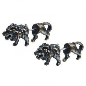 3D Lion Earrings