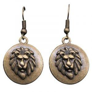 80s Lion Earrings