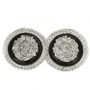 Versace Silver Lion Earrings
