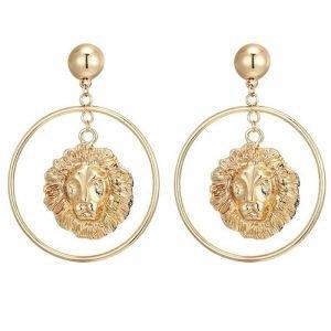 Lion Circle Earrings