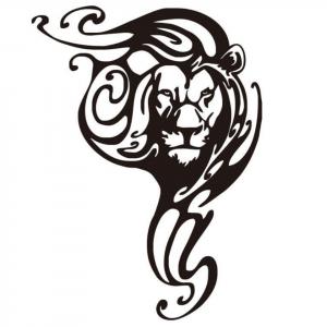 Inkjet Lion Sticker Design