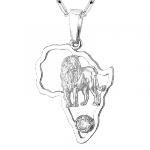 Africa Pendant With Lion