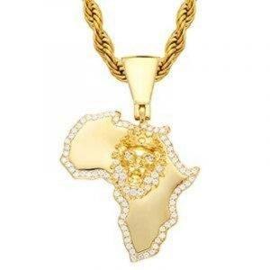 African Lion Gold Pendant
