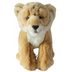 Baby Lion Plush with Black Spots