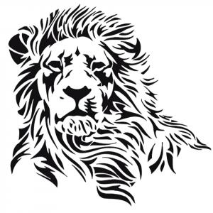 Black Lion Wall Sticker