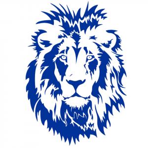 Blue Lion portrait Sticker