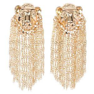 lion mane earrings