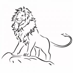 Child Room Lion Sticker