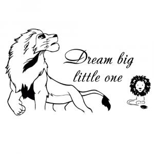 Dream Big Little One Lion King Sticker