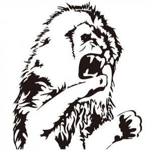 Fighting Lion Sticker