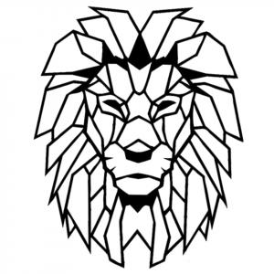 Geometric Lion Wall Sticker