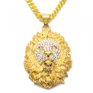 Gold Lion Pendant Beauty