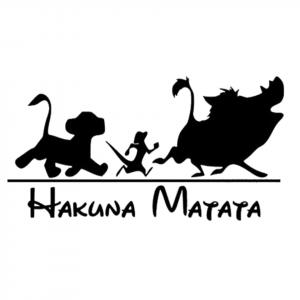Hakuna Matata the Lion King Sticker
