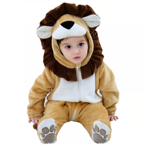 hooded baby lion costume