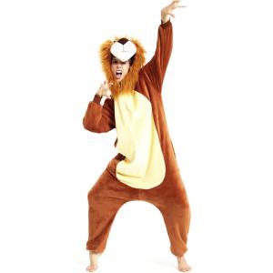 Hooded Mane Lion Costume
