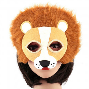 Ladies Half Face Lion Mask