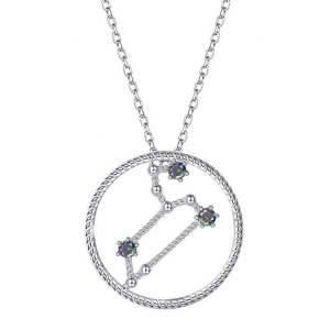 Leo Star Sign Silver Necklace