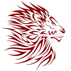 Lion Flaming Mane Sticker