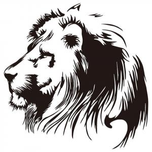 lion profile wall sticker
