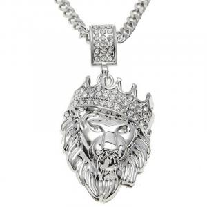 Man Lion Silver Pendant