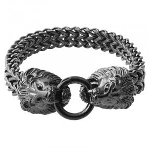 Black lion head bracelet.